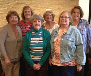LCHS Class of '65 Front row (L-R) - Norma Hackworth Lena Fugate, Linda Sue Gilbert. Back row - Connie Fitch, Brenda Vaughn, Mary McClurg.