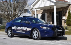 One of the new Ford Police Interceptor sedans delivered last week to the Vanceburg Police Department. - Photo by Dennis Brown