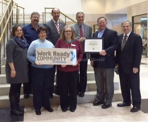 Lewis County has been certified as a Work Ready Community in Progress.