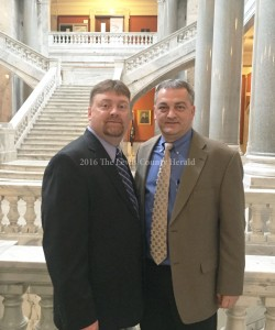 Shane Wallingford and Lewis County Judge Executive Todd Ruckel.