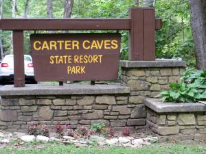 Carter Caves Entrance Sign