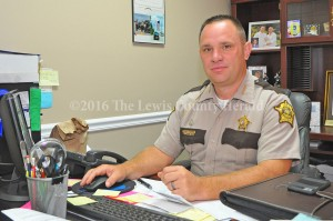 Lewis County Sheriff Johnny Bivens. - Photo by Dennis Brown