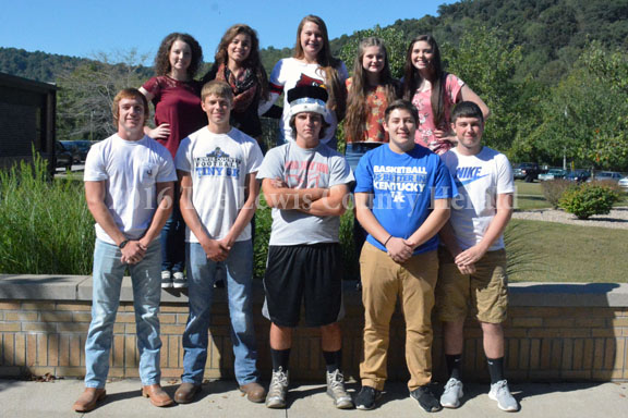 Sophomores Front row l-r: Garrett Applegate, Zach Lehn, Randy Irey, Matthew Hamilton, & Brent Steele. Back row l-r: Faith Bryan, Neisha Simonetti, Hailey Evans, Erin Brown, & Delana Hobbs. - Mary Collins Photo