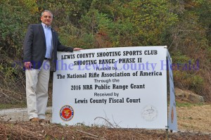 Judge Executive Todd Ruckel says progress is being made on a public shooting range. An NRA grant is helping to fund the project in three phases. - Dennis Brown Photo