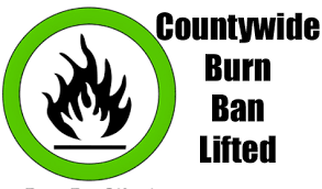 Burn Ban Lifted in Lewis County