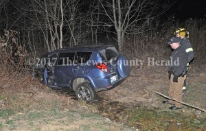Deputies are investigating this accident at Tollesboro on Friday night. - Dennis Brown Photo
