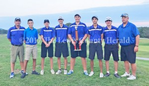Lewis County Golf captured the EKC championship Monday. They advance to the next round at Eagle Trace in Morehead.