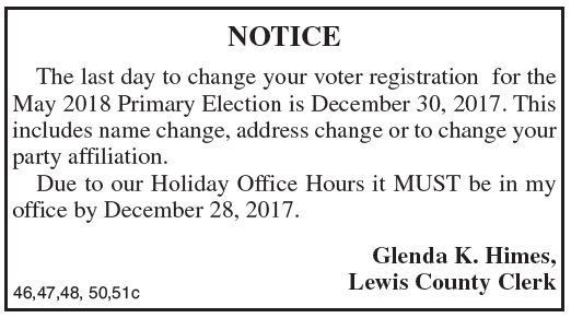 Last day to change voter registration for 2018 Primary