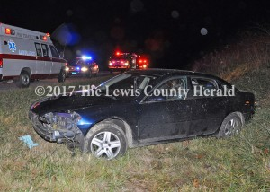 The driver of this Chevrolet Impala led deputies on a high-speed chase on the AA Hiughway. - Dennis Brown Photo