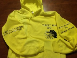Turkey Run hoodies will be among the items for sale at the Original Turkey Run.