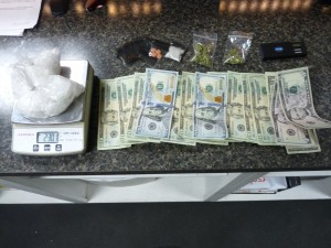 Saturday night's seizure included money, ice, other drugs and drug paraphernalia.