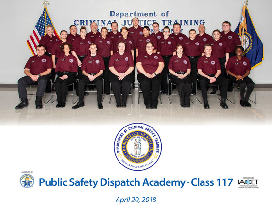 DOCJT's 117th Telecommunications Academy Class