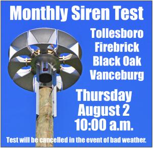 Siren Test August 2018