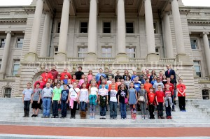 Central Elementary students visit Rep. Rocky Adkins in Frankfort.