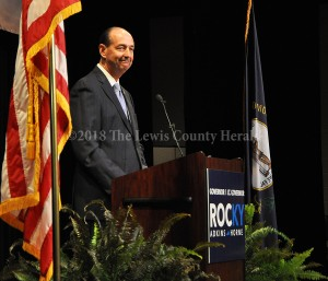 Rocky Adkins officially announced his campaign for governor during an event in Morehead last week. - Dennis Brown Photo
